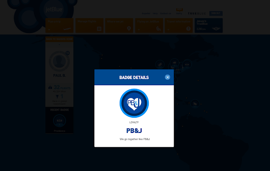 How to use gamification to achieve soft loyalty - JetBlue awards a one-of-a-million Badge