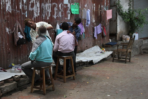 Street Barbers of Byculla by firoze shakir photographerno1