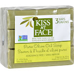 Kiss My Face Naked Pure Olive Oil Soap - 3 count, 4 oz bars