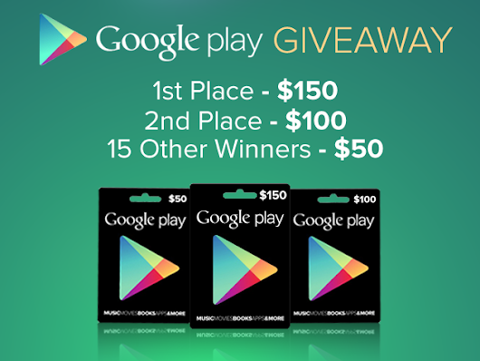 CONTEST: $1000 Google Play Giveaway from AndroidArea.com, your new store for Android deals