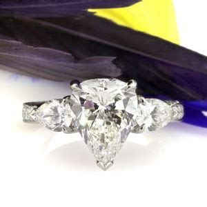 Three Stone Pear Shaped Engagement Ring   Mark Broumand Blog