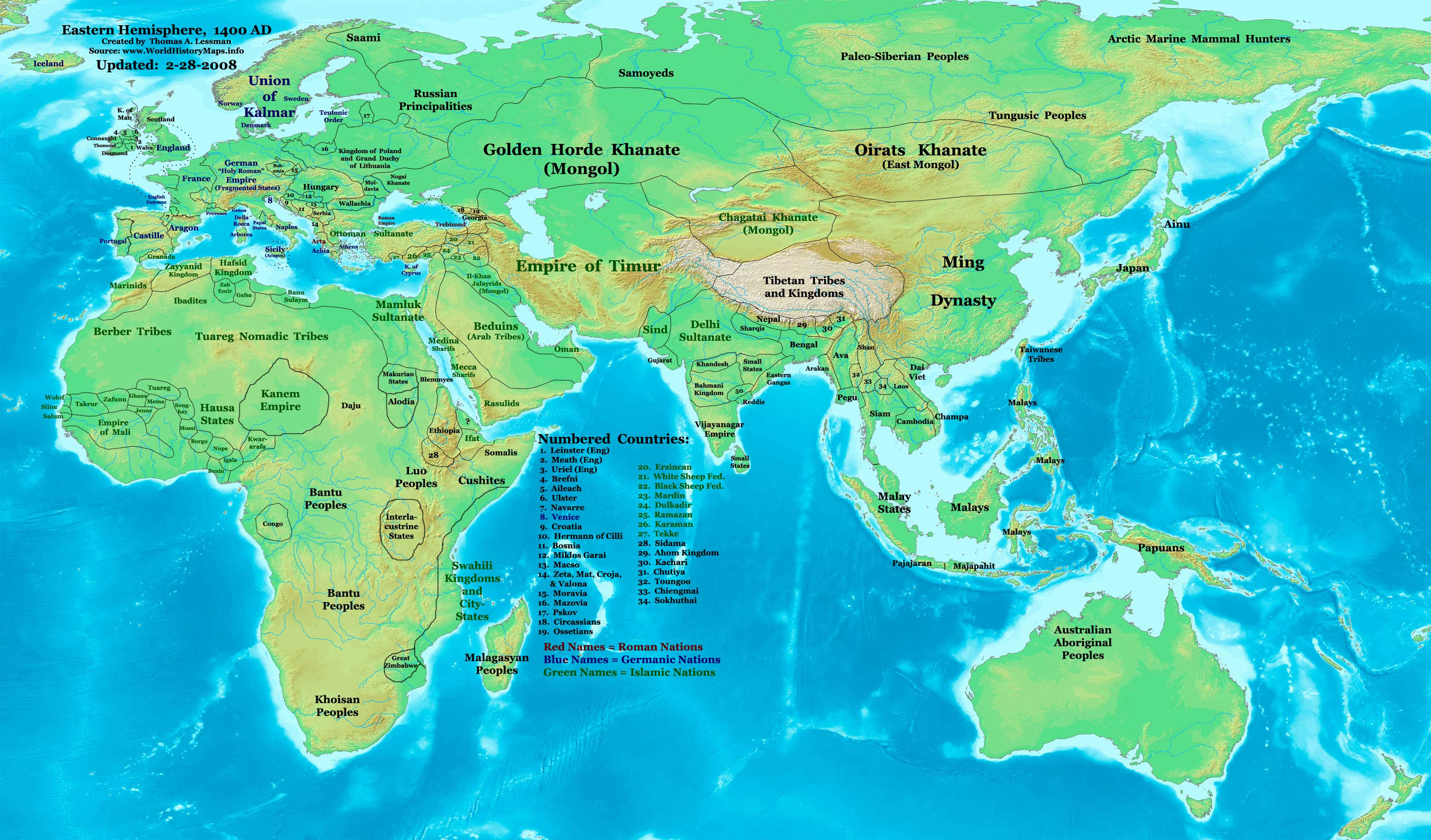 THEN AND NOW: WORLD MAPS -FROM 1300 B.C. TO 1500 A.D-AND ...