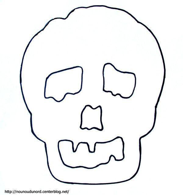 Coloriage Halloween Tete De Mort