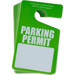 Parking Permit Hang Tag - 50-Pack Parking Passes, Rear View Mirror Hang Tags, for Employees, Tenants, Students, Business, Office, Apartment, Car Lots,