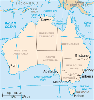 Australian States and mainland Territories