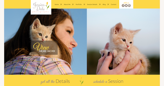 Jessica Dale Photography | Custom Web Presence by WeDoDev