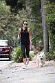jordana brewster goes for a run with her pet pooch 05