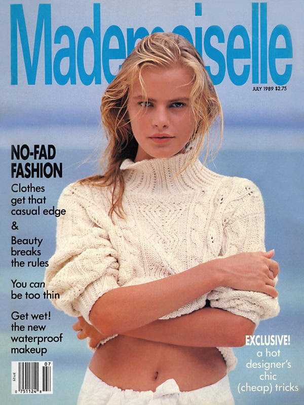 Emma Balfour for Mademoiselle July 1989