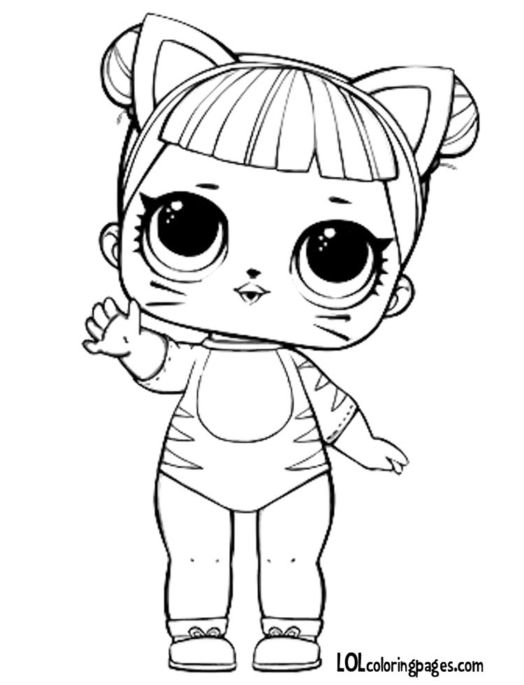 Baby Cat Coloring Pages At Getdrawingscom Free For Personal Use