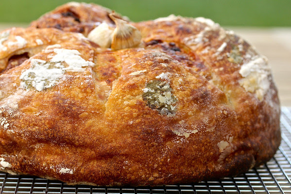 Garlic Gruyere Pain de Campagne Boule from Karen's Kitchen Stories