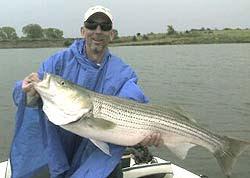 Lake Sooner Oklahoma striper fishing report