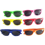 24-Piece Neon Colored Unisex Kids Sunglasses Party Favors Gift