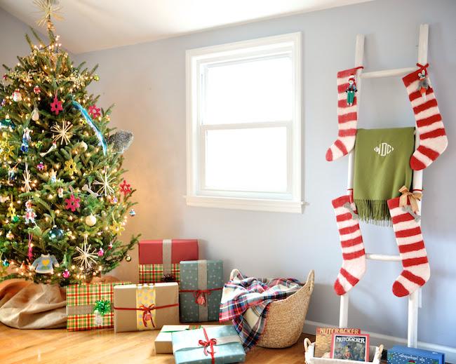 No Fireplace Christmas Stocking Solutions Dicorcia Design