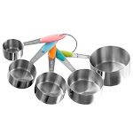 Classic Cuisine 82-KIT1037 Stainless Steel Measuring Cups Set - 5 Piece