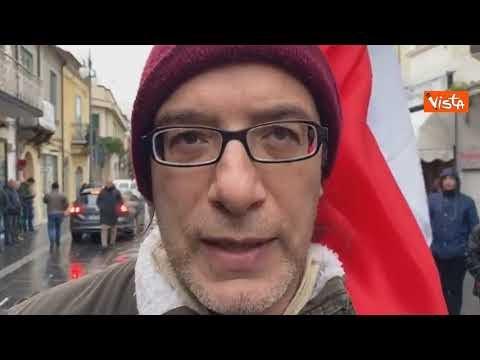 Salvini contestato a Vibo Valentia
