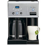 Cuisinart 12 Cup Programmable Coffee Maker with Hot Water System - Black/Silver