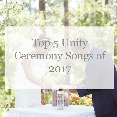 Top 5 Unity Ceremony Songs   Wedding DJ & Photographer