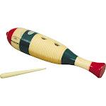 Rhythm Band Traditional Wood Guiro with Scratcher