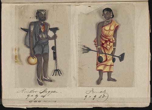 Hindoo beggar - Female, Madura, 1837