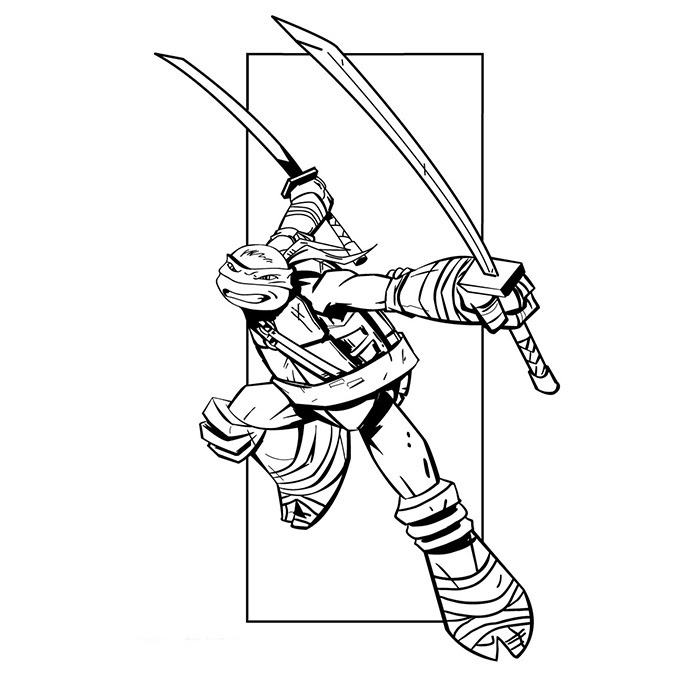 Coloriage Tortues Ninjas Léonardo A Imprimer Gratuit Az Coloriage