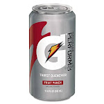 Thirst Quencher Can, Fruit Punch, 11.6oz Can, 24/Carton