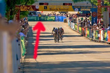 Henry at the Nature Valley Grand Prix Mankato stage