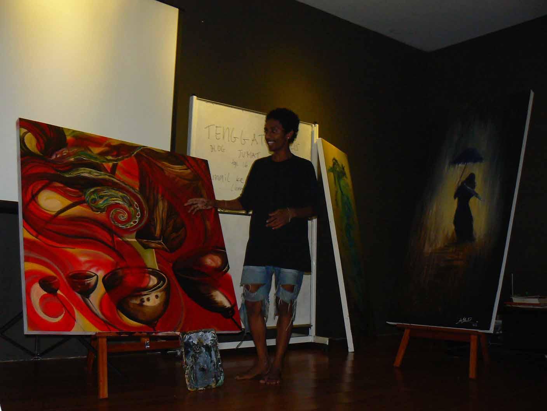 Theizard Saiya, seniman lukis Ambon muda...