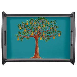 P in a Pear Tree Serving Tray