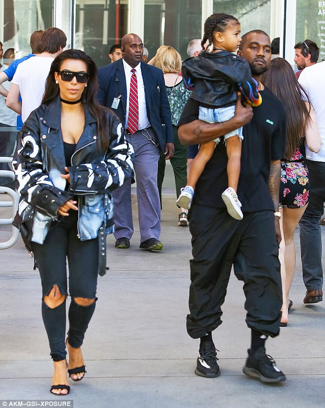 Ready to go home?After a long day, Kim, Kanye and North all looked tired but were still, as usual, effortlessly stylish