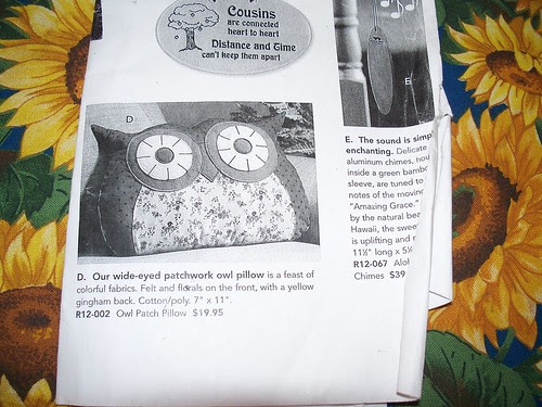 owl pillow inspiration