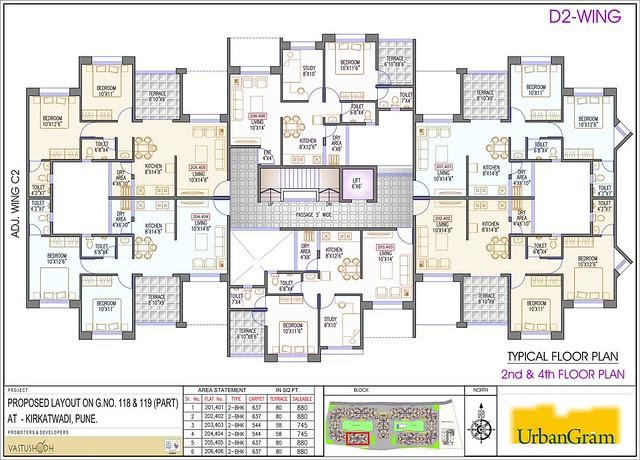 D2 2nd & 4th Floor - 2 BHK Flat for Rs. 25 Lakhs at Urbangram Kirkatwadi on Sinhagad Road Pune 411 024