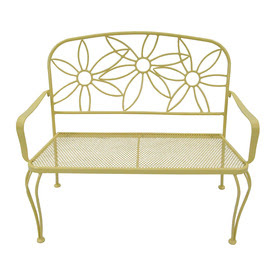 Shop Garden Treasures 36-in L Steel/Iron Patio Bench at Lowes.