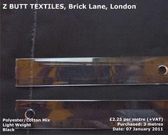 Polyester & Cotton, Black