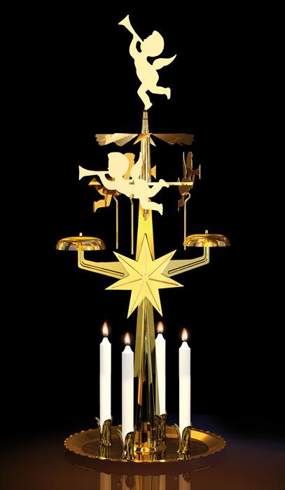 Carillon des anges doré, Carillon Père Noel  avec clochettes qui tintent
