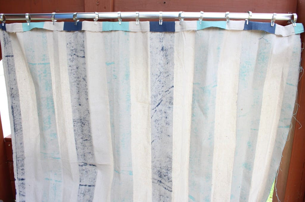 Painted Drop Cloth Curtains and Playset Refresh - Simple ...