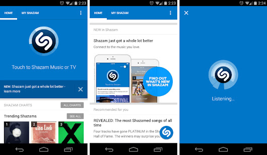 Shazam App Updated on Google Play With Material Design Interface | Droid Life