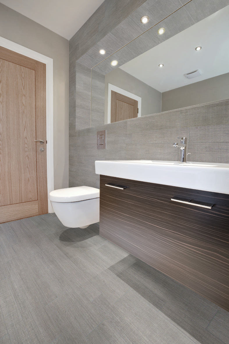 Bathroom porcelain stoneware wall tile: wood look - ECOWOOD ...