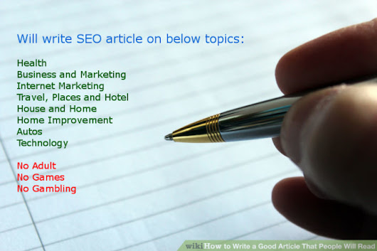 I will write 500 words article seo friendly