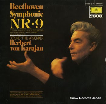 KARAJAN, HERBERTO VON beethoven; symphony no.9 in d minor