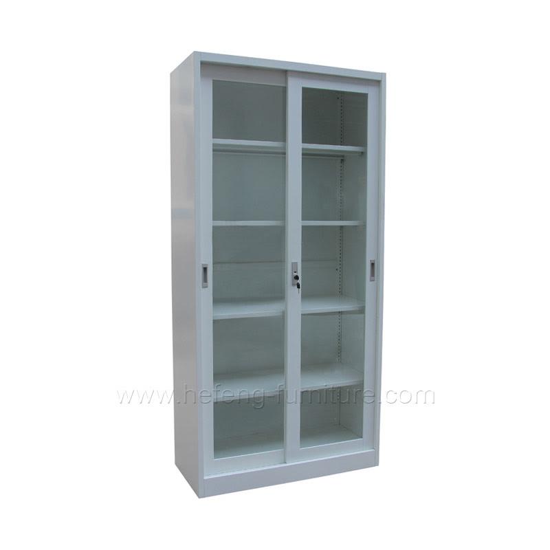 Lemari Arsip Besi Pintu Geser Kaca Hefeng Furniture
