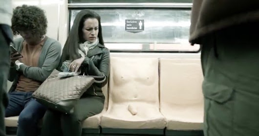 Mexico City Installs a 'Penis Seat' in the Subway to Teach Men About Sexual Harassment