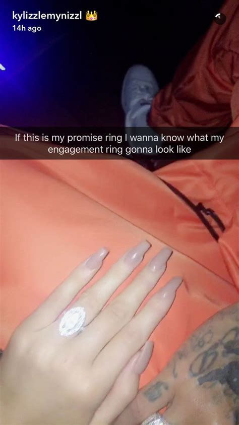 Tyga Gives Kylie Jenner A Promise Ring   K Y L I E ? J E N