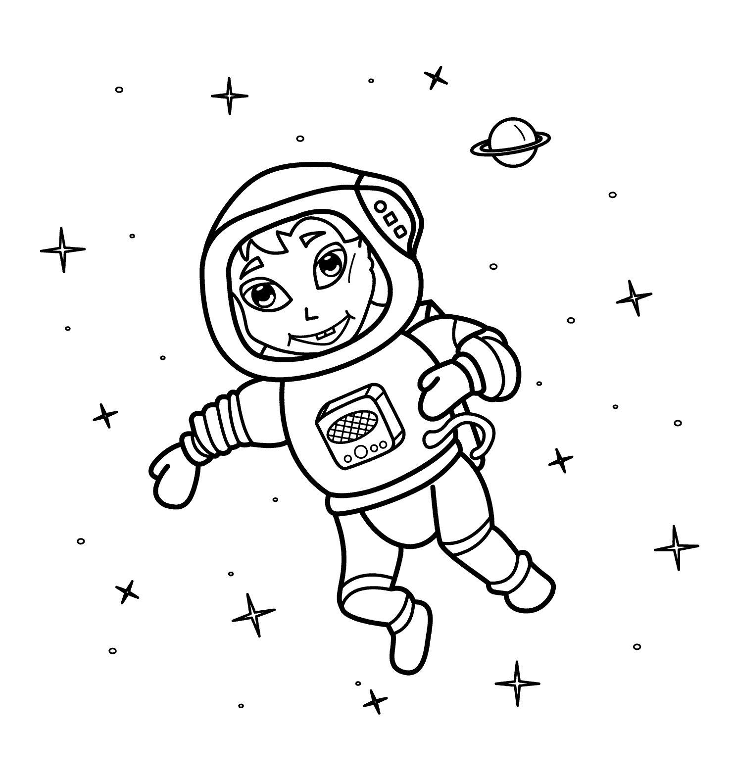 frais coloriage astronaute a imprimer