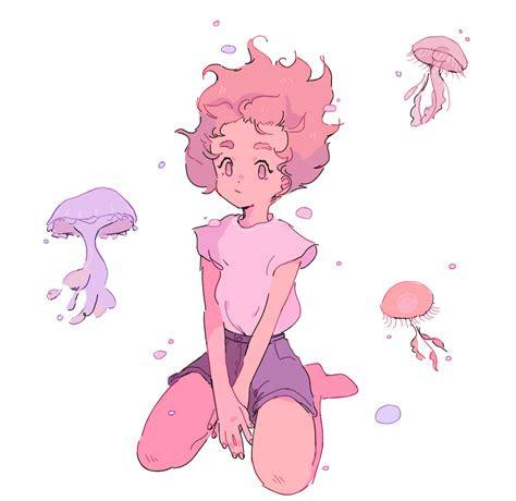 female child mythical reference art pastel art anime