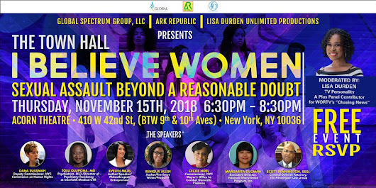 TOWN HALL - I Believe Women: Sexual Assault Beyond A Reasonable Doubt
