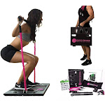 BodyBoss Home Gym 2.0 - Full Portable Gym Home Workout Package + 1 Set Of Resistance Bands - Pink