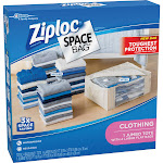 Ziploc Space Bags Jumbo Tote Shell and Large Bags - 5 count