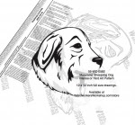 Maremma Sheepdog Dog Intarsia or Yard Art Woodworking Plan - fee plans from WoodworkersWorkshop® Online Store - Maremma Sheepdog dogs,pets,animals,dog breeds,intarsia,yard art,painting wood crafts,scrollsawing patterns,drawings,plywood,plywoodworking plans,woodworkers projects,workshop blueprints