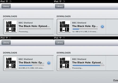 downloadin podcast