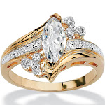 1.03 TCW Cubic Zirconia Ring in 14k Gold-Plated